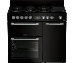 LEISURE PR100F530K 100 cm Dual Fuel Range Cooker - Black Best Price, Cheapest Prices
