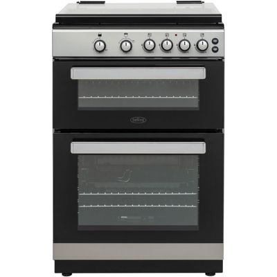 Belling FSG608Dc 60cm Gas Cooker with Full Width Electric Grill - Silver - A+/A Rated Best Price, Cheapest Prices
