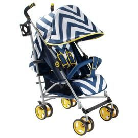 My Babiie MB02 Chevron Stroller - Blue Best Price, Cheapest Prices