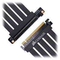Corsair Premium PCIe 3.0 x16 Riser Cable, 300mm, 90° Female PCIe, EMI Shielded, Five-Wire Banded Construction Best Price, Cheapest Prices