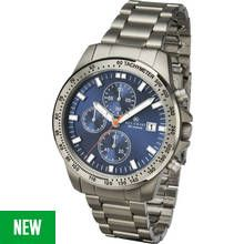 Accurist Men's Grey Titanium Chronograph Bracelet Watch Best Price, Cheapest Prices