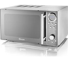 SWAN SM3080N Solo Microwave - Silver Best Price, Cheapest Prices