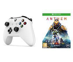 XBOX ONE Anthem & Xbox Wireless Controller Bundle - White Best Price, Cheapest Prices