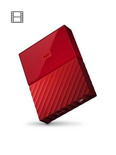 Western Digital My Passport 1TB Portable External Hard Drive - Red Best Price, Cheapest Prices
