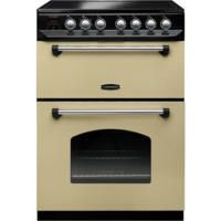 Rangemaster 10734 Classic 60cm Electric Double Oven Cooker With Ceramic Hob Cream And Chrome Best Price, Cheapest Prices