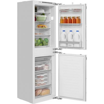 Bosch Serie 4 KIV85VF30G Integrated 50/50 Fridge Freezer with Fixed Door Fixing Kit - White - A++ Rated Best Price, Cheapest Prices