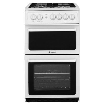 Hotpoint HAG51P Gas Cooker with Variable Gas Grill - Polar White Best Price, Cheapest Prices