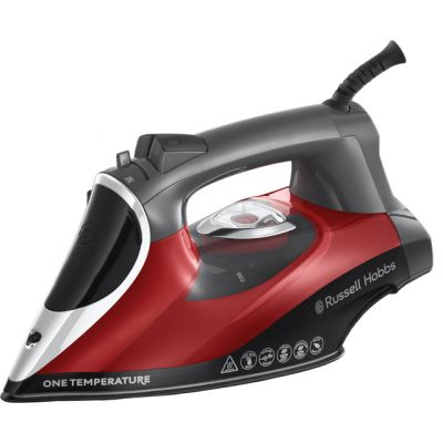 Russell Hobbs One Temperature 25090 2600 Watt Iron -Red / Black Best Price, Cheapest Prices