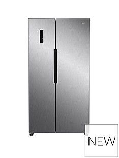 Swan Total No Frost 90cmWide American Style Fridge Freezer - Stainless Steel Look