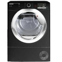 Hoover HLC9DCEB Link 9kg Freestanding Condenser Sensor Tumble Dryer With One Touch - Black With Chrome Water Collection Glass Door Best Price, Cheapest Prices