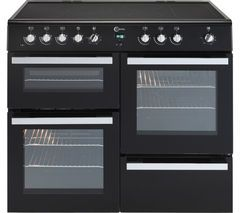 FLAVEL Milano 100 MLN10CRK Electric Range Cooker - Black & Chrome Best Price, Cheapest Prices