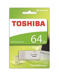 Toshiba 64GB USB 2.0 Flash Drive - White Best Price, Cheapest Prices
