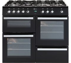 FLAVEL Milano 100 MLN10FRK Dual Fuel Range Cooker - Black & Chrome Best Price, Cheapest Prices