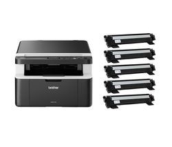 BROTHER All In Box DCP1612WVB Monochrome All-in-One Wireless Laser Printer Bundle Best Price, Cheapest Prices