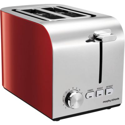 Morphy Richards Equip 222056 2 Slice Toaster - Red Best Price, Cheapest Prices