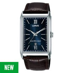 Lorus Blue Dial Mens Brown Leather Strap Watch Best Price, Cheapest Prices