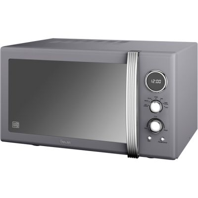 Swan Retro SM22085GRN 25 Litre Microwave - Grey Best Price, Cheapest Prices