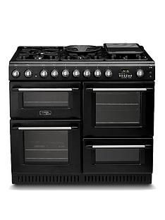 Cannon By Hotpoint Ch10456Gfs 100Cm Dual Fuel Range Cooker And Gas Hob With Fsd - Black Best Price, Cheapest Prices