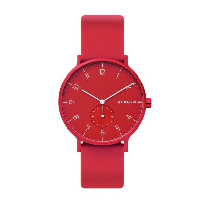 Skagen Kulor Red Silicone Strap Watch Best Price, Cheapest Prices