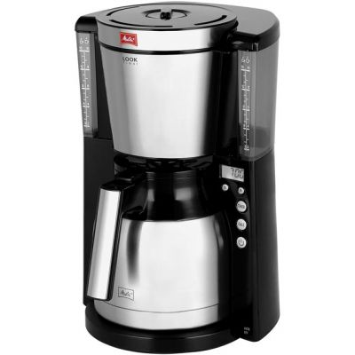 Melitta Look IV Therm Timer 6738044 Filter Coffee Machine with Timer - Black Best Price, Cheapest Prices