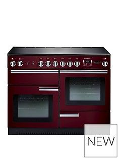 Rangemaster  PROP110ECCY Professional Plus 110cm Electric Range Cooker - Cranberry Best Price, Cheapest Prices
