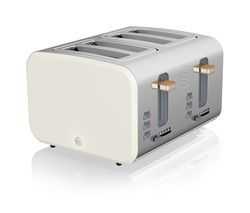 SWAN Nordic ST14620WHTN 4-Slice Toaster - White Best Price, Cheapest Prices