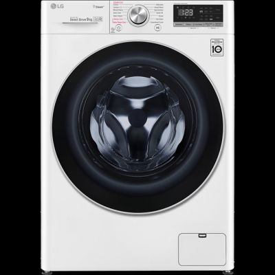 LG V5 F4V509WS Wifi Connected 9Kg Washing Machine with 1400 rpm - White - A+++ Rated Best Price, Cheapest Prices