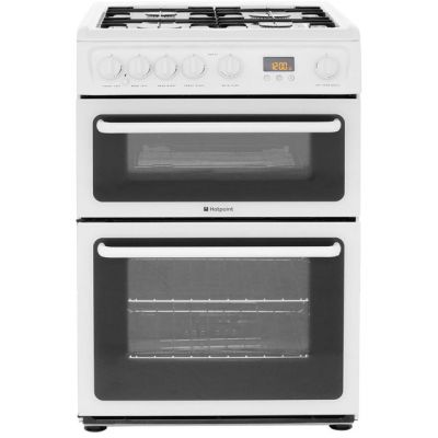 Hotpoint HAG60P 60cm Gas Cooker with Variable Gas Grill - Polar White Best Price, Cheapest Prices