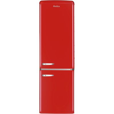 Amica FKR29653R 60/40 Fridge Freezer - Red - A+ Rated Best Price, Cheapest Prices