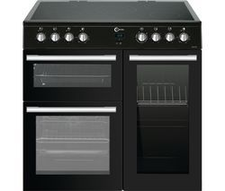 FLAVEL MLN9CRK 90 cm Electric Ceramic Range Cooker - Black Best Price, Cheapest Prices