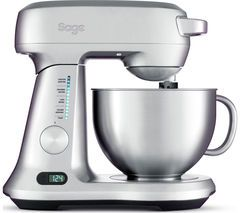 SAGE Scraper BEM800UK Stand Mixer - Silver Best Price, Cheapest Prices