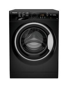 Hotpoint Nswm743Ubs 7Kg Load, 1400 Spin Washing Machine - Black Best Price, Cheapest Prices