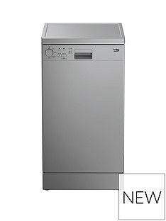 Beko DFS04010S 10-Place Freestanding Slimline Dishwasher - Silver Best Price, Cheapest Prices