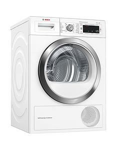 Bosch Serie 8WTW87561GB 9kg Condenser Tumble Dryer with Heat Pump Technology - White Best Price, Cheapest Prices