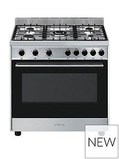 Smeg B90GVXI9 90cm Wide Stainless Steel Single Cavity Gas Range Cooker Best Price, Cheapest Prices