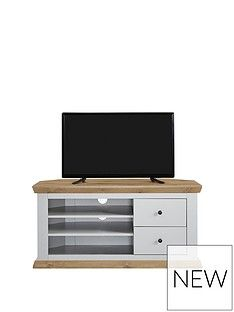 Burford Corner TV Unit - fits up to 52 inch TV Best Price, Cheapest Prices