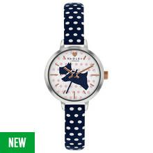 Radley Ladies RY2733S Rose Gold Plated Polka Dot Strap Watch Best Price, Cheapest Prices
