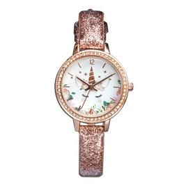 Tikkers Children's Rose Gold Coloured Leather Strap Watch Best Price, Cheapest Prices