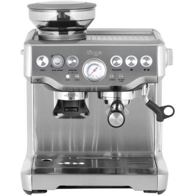 Sage The Barista Express BES875UK Espresso Coffee Machine with Integrated Burr Grinder - Brushed Steel Best Price, Cheapest Prices