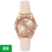 Sekonda Ladies' Rose Gold Plated Stone Set Nude Strap Watch Best Price, Cheapest Prices