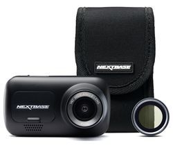 NEXTBASE 222 Full HD Dash Cam, Case & Polarising Filter Bundle - Black Best Price, Cheapest Prices