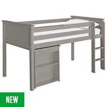 Argos Home Brooklyn Grey Mid Sleeper with Desk Best Price, Cheapest Prices