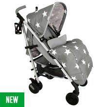 My Babiie Billie Faiers MB51 Stars Stroller - Grey Best Price, Cheapest Prices