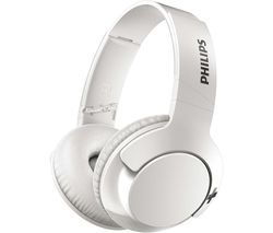 PHILIPS BASS+ SHB3175WT Wireless Bluetooth Headphones - White Best Price, Cheapest Prices