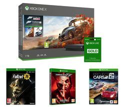 MICROSOFT Xbox One X, Forza Horizon 4, Forza Motorsport 7, Project Cars 2, Tekken 7, Fallout 76 & 3 Months LIVE Gold Bundle Best Price, Cheapest Prices