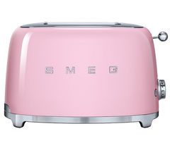 SMEG TSF01PKUK 2-Slice Toaster - Pink Best Price, Cheapest Prices