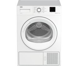 BEKO Pro DTBP8011W 8 kg Heat Pump Tumble Dryer - White Best Price, Cheapest Prices