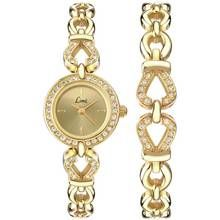 Limit Ladies' Gold Plated Stone Set Watch and Bracelet Set Best Price, Cheapest Prices