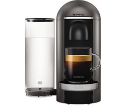 NESPRESSO by Krups Vertuo Plus XN900T40 Coffee Machine - Titanium Best Price, Cheapest Prices