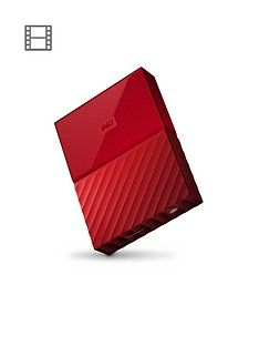 Western Digital My Passport 4TB Portable External Hard Drive - Red Best Price, Cheapest Prices